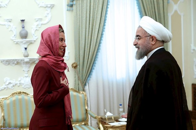 MOGHERINI HEADSCARF IN IRAN 2