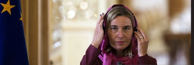 MOGHERINI TRIES HEADSCARF