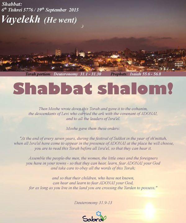 Shabbat Vayelekh