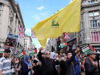 Al Quds Day London 2016 Hezbollah flag.