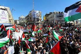 Palestinian demonstrators